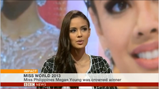 Watch Megan Young's interview with BBC News in London