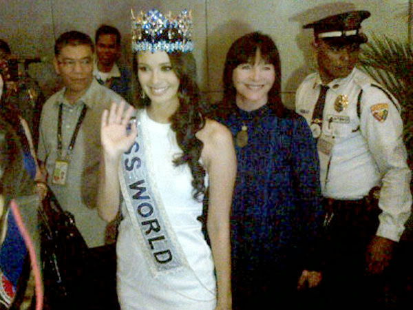 Miss World Megan Young back in Manila