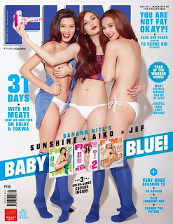Banana Nite Girls Dare to Bare in FHM January 2014 Issue