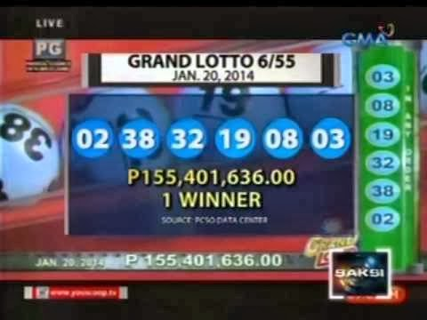 Sole Winner Takes Home P155.4M Grand Lotto Jackpot