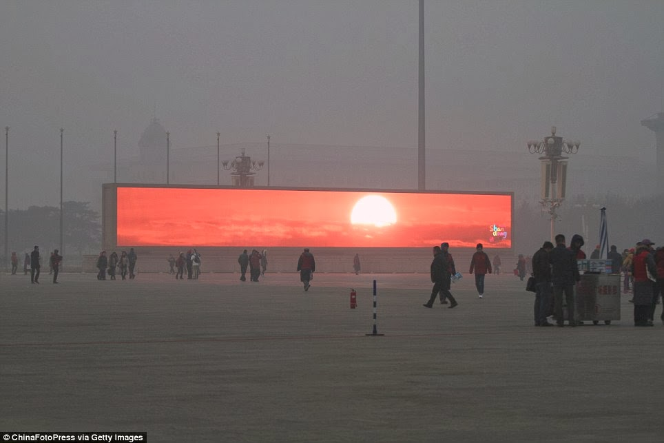 Sunrise Televised in Beijing Due to Thick Smog