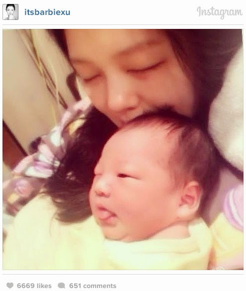 Barbie Hsu and Husband Welcomes First Baby