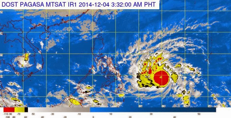 Typhoon Ruby Enters PAR, Threatens with its Power