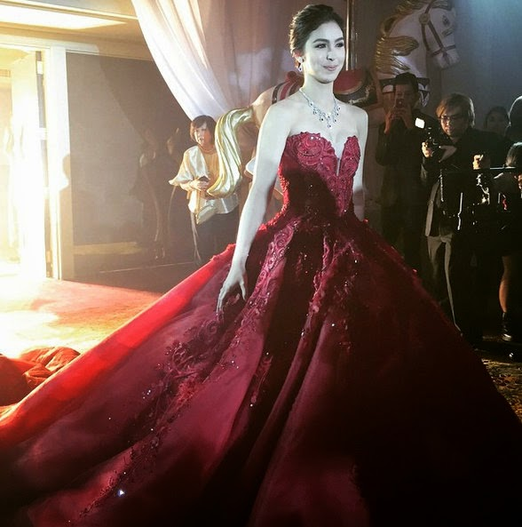 Close Look at Julia Barretto\'s Debut Gown