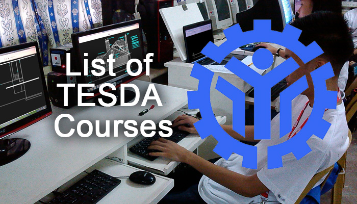 Complete List of TESDA Courses 2018