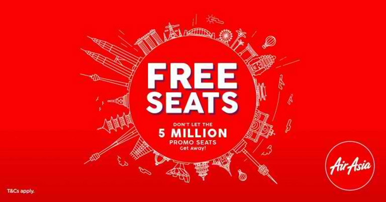 5 Million Inexpensive Seats For The AirAsia Seat Sale