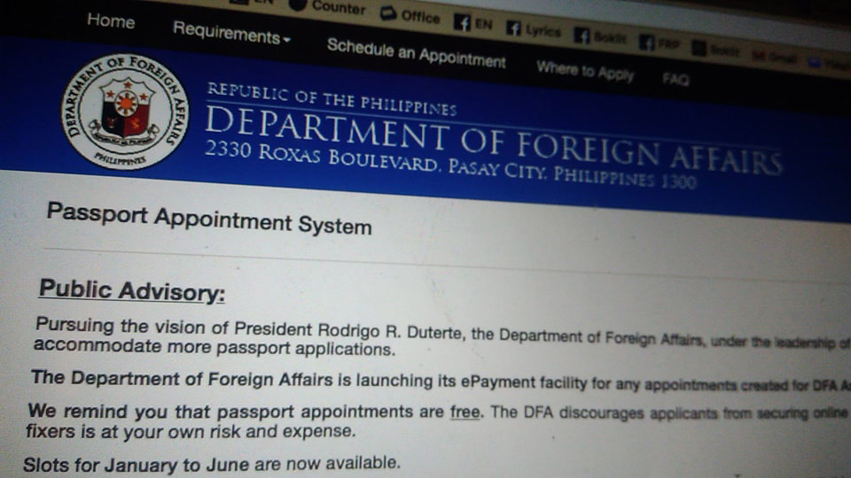 DFA-No-Appointment-Without-Upfront-Payment