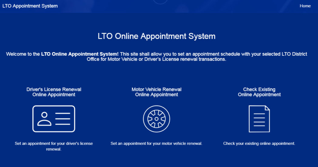 LTO-Online-appointment-system