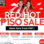500 million passengers celebrated by AirAsia with Php1-seat promo