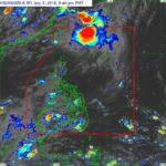 Parts of Luzon and Visayas to be affected by the SouthWest Monsoon on July 5th