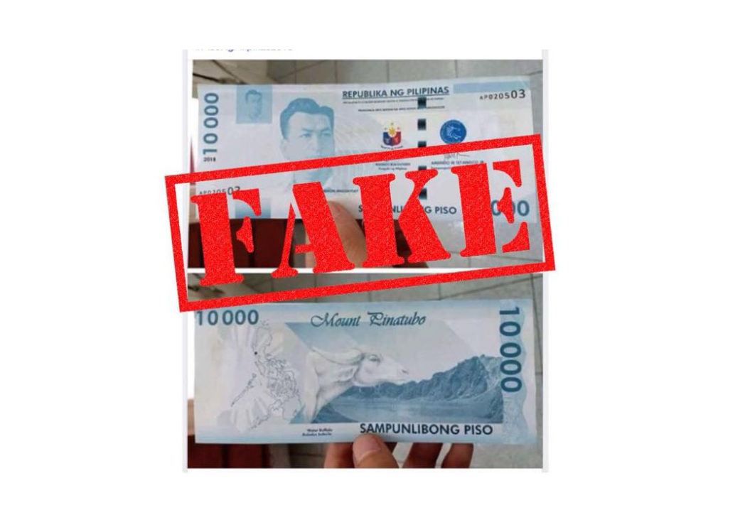 Fake Php10, 000 Bill