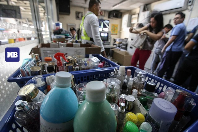 MRT-3 and LRT-2 lifts the liquid ban temporarily