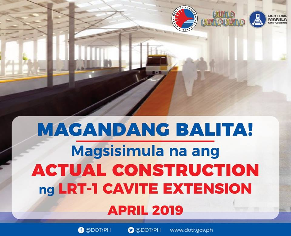 LRT-1 Cavite Extension constraction