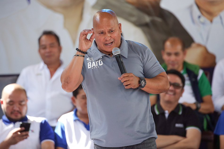 Bato admits that he is looking for seminars on making laws