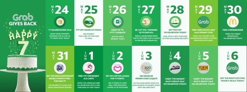 Grab Celebrates its 7th Anniversary and Will Give Users Millions of