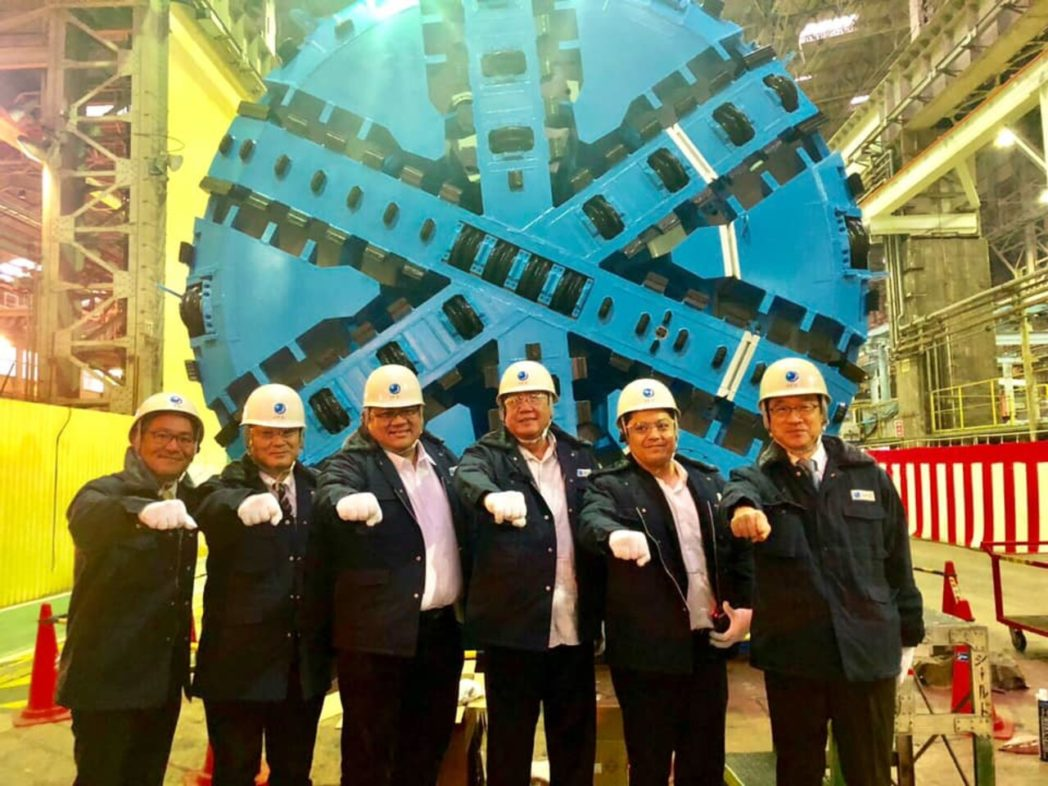 Parts of the Tunnel Boring Machine sent to the PH