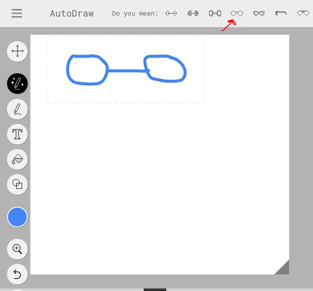 Google AutoDraw sample of how its AI technology works