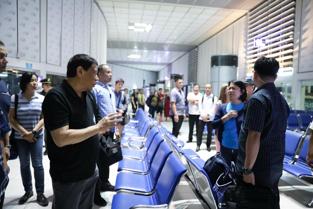 Duterte's surprise inspection at NAIA Terminal 2
