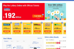 Have a chance to win the biggest lottery jackpots in the world