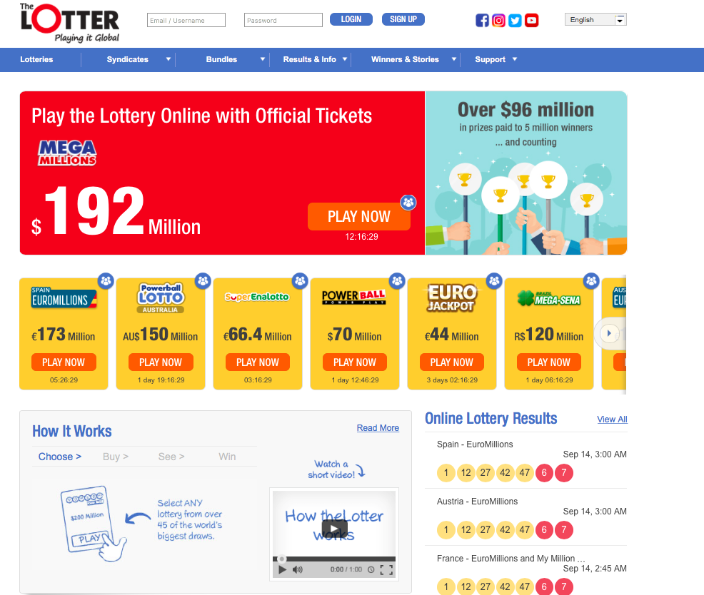 Have a chance to win the biggest lottery prizes in the world