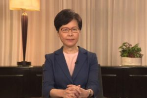 Carrie Lam with withdrawal of extradition law
