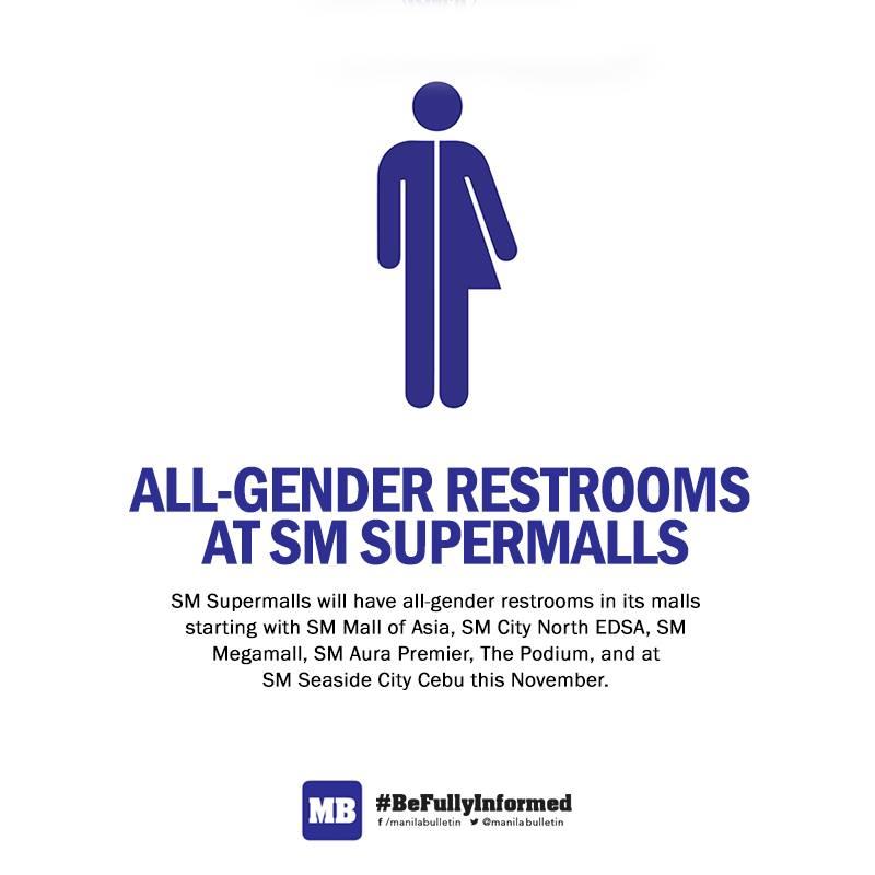 All-gender restrooms in SM Supermalls