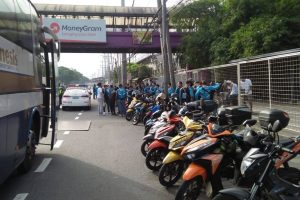Free Angkas Rides Given by the Management Because of LRT-2 Repair